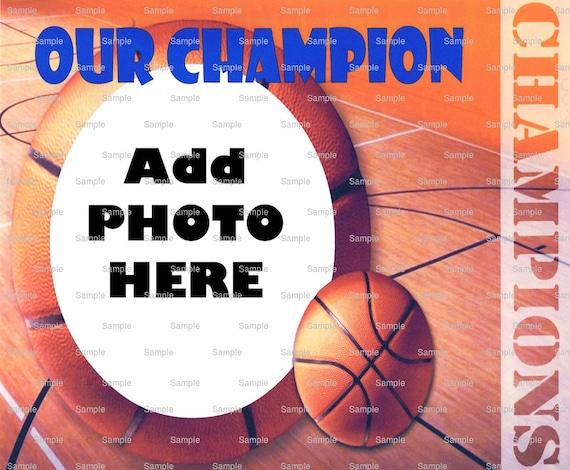 Basketball Birthday ~ Edible 2D Fondant Birthday Photo Frame Cake/Cupcake Topper ~ D4394