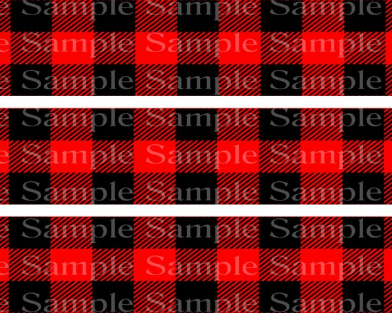 Red & Black Plaid - Edible Cake Side Toppers- Decorate The Sides of Your Cake! - D24211