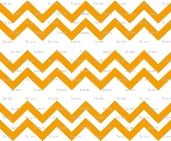 Orange - Chevron Birthday Background - Side Strips - Edible Cake Side Toppers- Decorate The Sides of Your Cake! - D6365