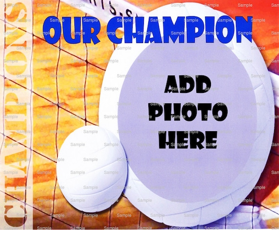 Volleyball Birthday - Edible Cake and Cupcake Photo Frame For Birthdays and Parties! - D4445