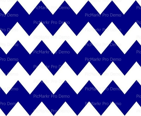 "Navy Blue 2"" - Chevron Background Birthday - Edible Cake and Cupcake Topper For Birthday's and Parties! - D10040"