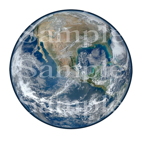 Planet Earth Space Birthday ~ Edible 2D Fondant Birthday Cake/Cupcake Topper ~ D24592