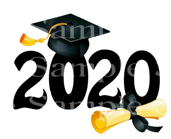 Class of 2020 Graduation Diploma ~ Edible 2D Fondant Birthday Cake/Cupcake Topper ~ D24562