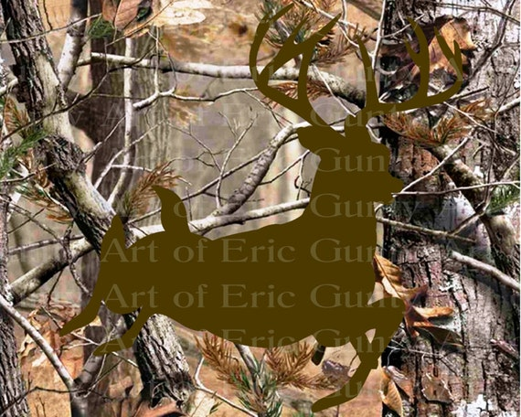 Deer Hunting Camo Birthday - Edible Cake and Cupcake Topper For Birthday's and Parties! - D22147