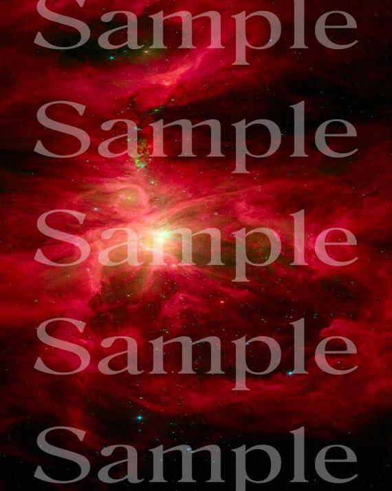 Space Nebula Birthday ~ Edible 2D Fondant Birthday Cake/Cupcake Topper ~ D24601