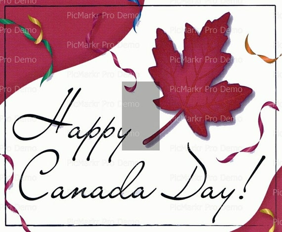 Happy Canada Day - Edible Cake and Cupcake Topper For Birthday's and Parties! - D2244