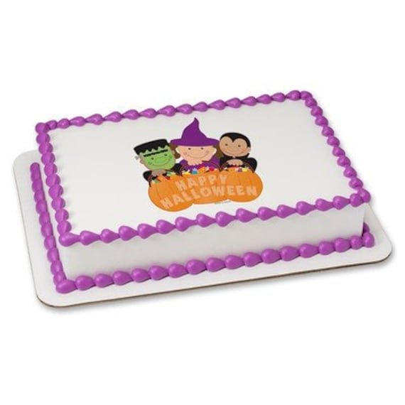 Halloween Trick or Treaters - Edible Cake and Cupcake Topper For Birthday's and Parties! - D24075
