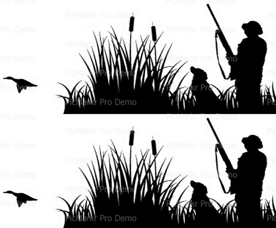 Duck Hunting Side Strips ~ Edible 2D Fondant Birthday Cake Side Toppers ~ D20195