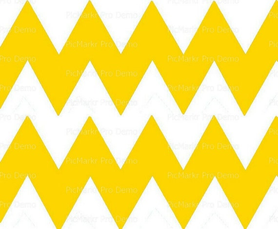 """Gold 4"""" - Chevron Birthday Background - Side Strips ~ Edible 2D Fondant Birthday Cake Side Toppers ~ D10056"""