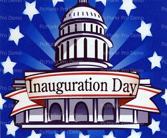 Inauguration Day Political - Edible Cake and Cupcake Topper For Birthday's and Parties! - D2249