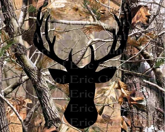 Deer Hunting Camo Birthday ~ Edible 2D Fondant Birthday Cake/Cupcake Topper ~ D22134
