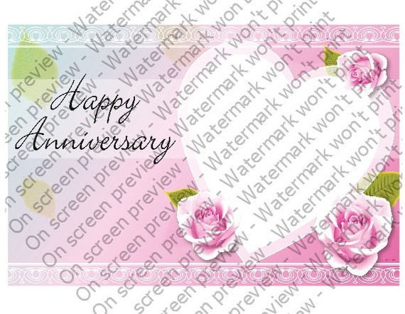 Anniversary Heart - Edible Cake and Cupcake Topper For Birthday's and Parties! - D20799