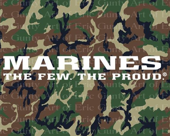 Marines Camo Birthday ~ Edible 2D Fondant Birthday Cake/Cupcake Topper ~ D21921