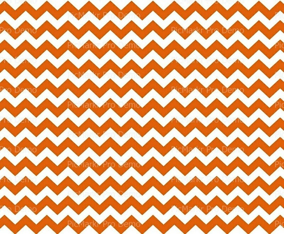 Orange Chevron Background  - Edible Cake and Cupcake Topper For Birthday's and Parties! - D20138