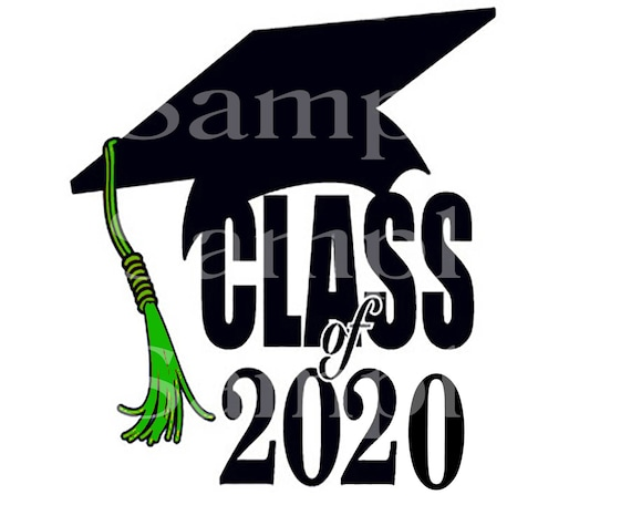 Class of 2020 Green Tassel Graduation ~ Edible 2D Fondant Birthday Cake/Cupcake Topper ~ D24565
