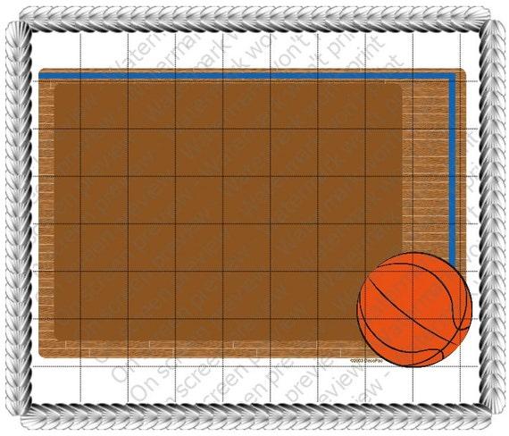 Basketball Birthday ~ Edible 2D Fondant Birthday Cake/Cupcake Topper ~ D20615
