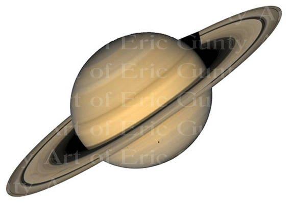Saturn Planet Space ~ Edible 2D Fondant Birthday Cake/Cupcake Topper ~ D22584