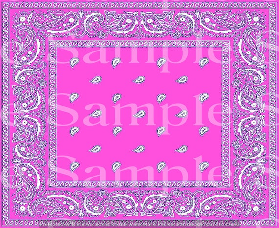 Pink Paisley Birthday ~ Edible 2D Fondant Birthday Cake/Cupcake Topper ~ D24628