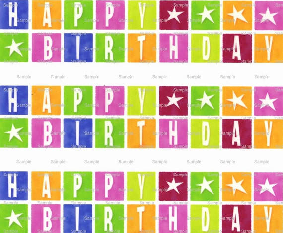 Happy Birthday - Birthday Background - Side Strips - Edible Cake Side Toppers - Decorate The Sides of Your Cake! - D6899