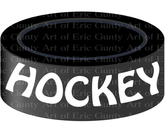 Hockey Puck Birthday ~ Edible 2D Fondant Birthday Cake/Cupcake Topper ~ D21966