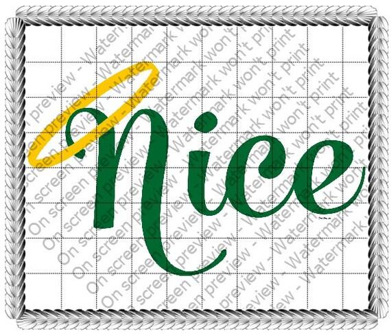Nice Angel Christmas ~ Edible 2D Fondant Birthday Cake/Cupcake Topper ~ D19185