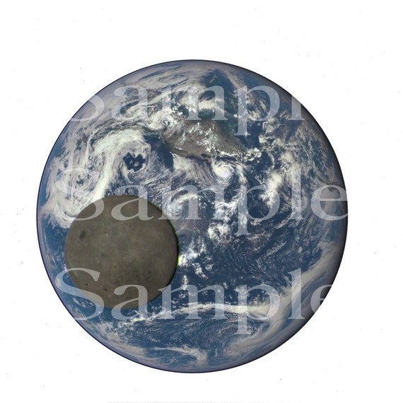Planet Earth  & Moon Space Birthday ~ Edible 2D Fondant Birthday Cake/Cupcake Topper ~ D24593