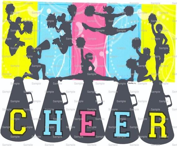Cheer Cheerleading Birthday ~ Edible 2D Fondant Birthday Cake/Cupcake Topper ~ D870
