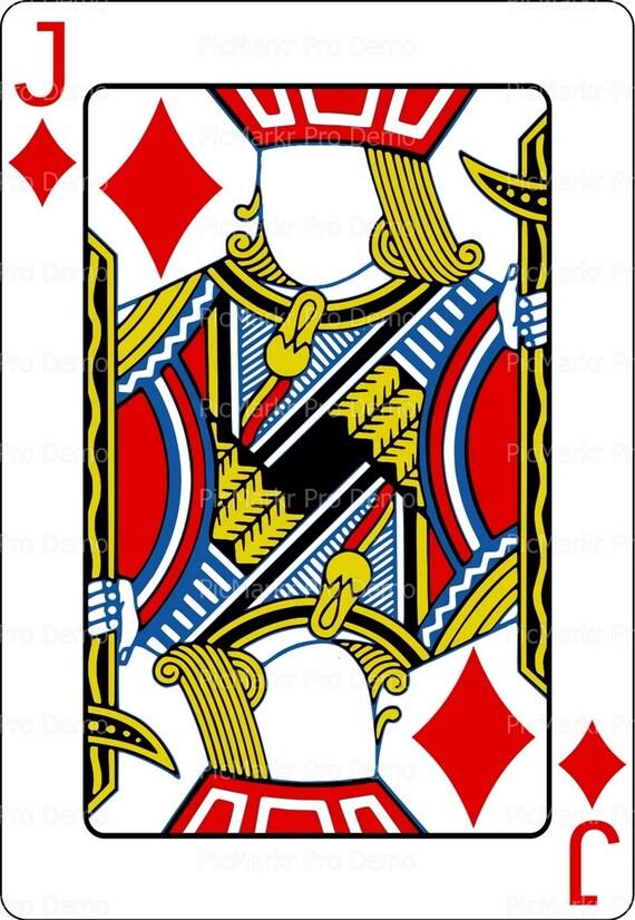 Casino Poker Jack Birthday ~ Edible 2D Fondant Birthday Cake/Cupcake Topper ~ D21851