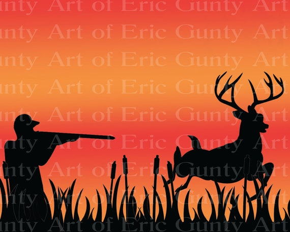 Deer Hunting - Edible Cake and Cupcake Topper For Birthday's and Parties! - D22510