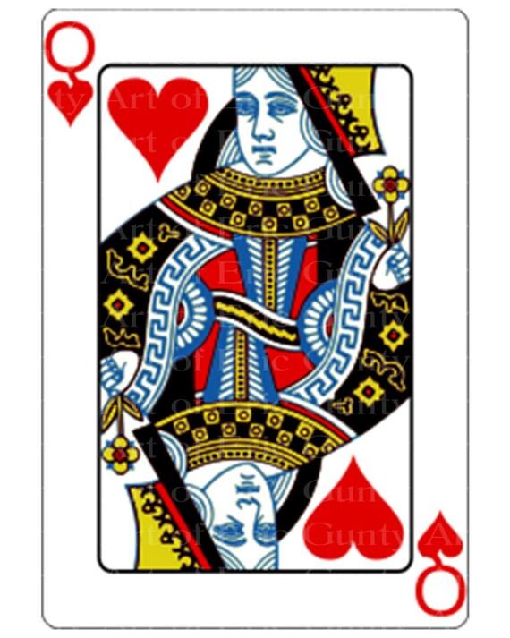 Queen of Hearts Poker Casino Birthday ~ Edible 2D Fondant Birthday Cake/Cupcake Topper ~ D21949