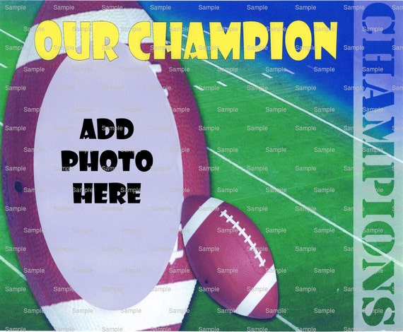 Football Birthday - Edible Cake and Cupcake Photo Frame For Birthdays and Parties! - D4395