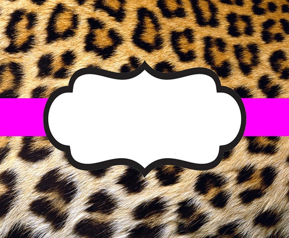 Pink Ribbon Cheetah Print Birthday ~ Edible 2D Fondant Birthday Cake/Cupcake Topper ~ D22400