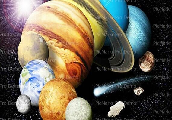 Solar System ~ Edible 2D Fondant Birthday Cake/Cupcake Topper ~ D9506