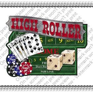 1000 Bill Casino Birthday ~ Edible 2D Fondant Cake Cupcake Topper  ~ D24138 *
