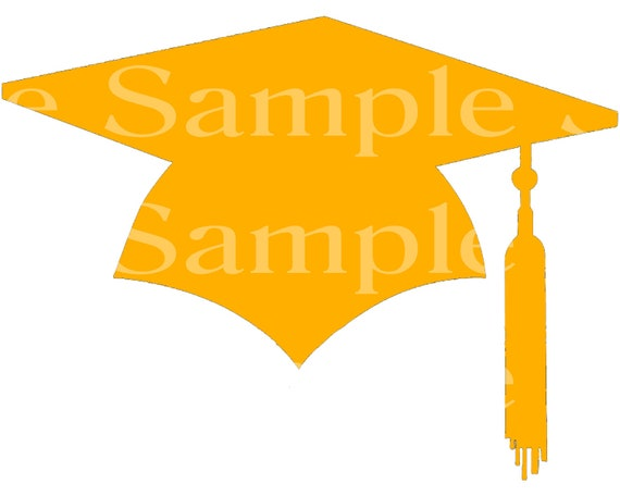 Orange Graduation Cap Party ~ Edible 2D Fondant Birthday Cake/Cupcake Topper ~ D24582