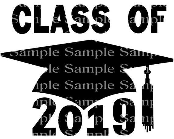 Class of 2019 Black Graduation Cap - 2D Fondant Edible Cake & Cupcake Topper For Birthdays and Parties! - D24244