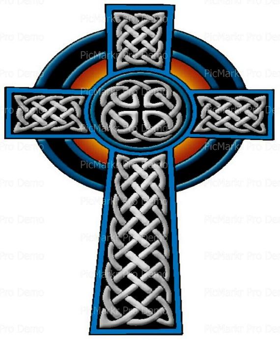 Celtic Cross ~ Edible 2D Fondant Birthday Cake/Cupcake Topper ~ D9201