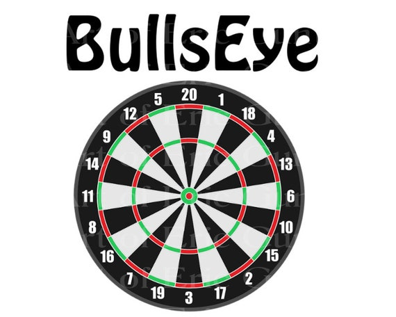 Dart Board Bullseye Birthday - Edible Cake and Cupcake Topper For Birthday's and Parties! - D22990