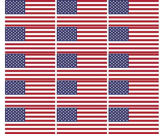 American Flag Birthday ~ Edible 2D Fondant Birthday Cake/Cupcake Topper ~ D24718