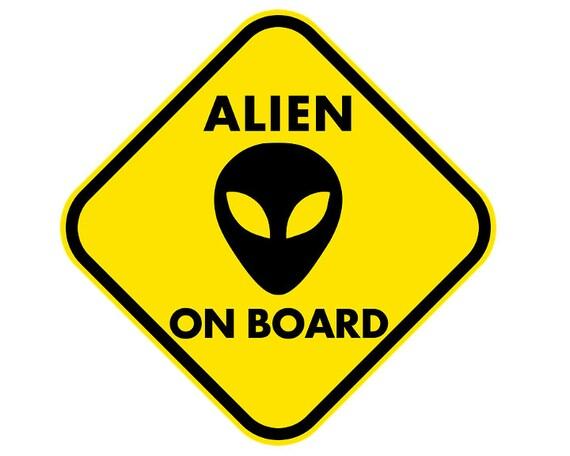 Alien on Board Birthday ~ Edible 2D Fondant Birthday Cake/Cupcake Topper ~ D24024
