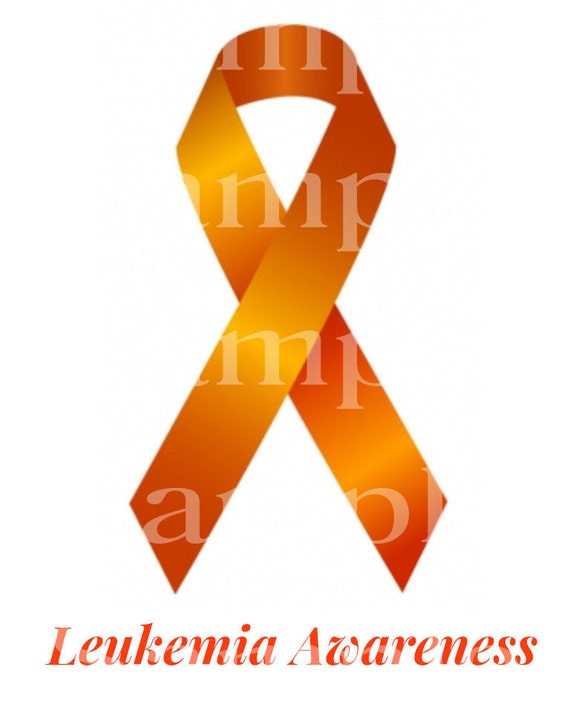 Leukemia Awareness Ribbon ~ Edible 2D Fondant Birthday Cake/Cupcake Topper ~ D24510