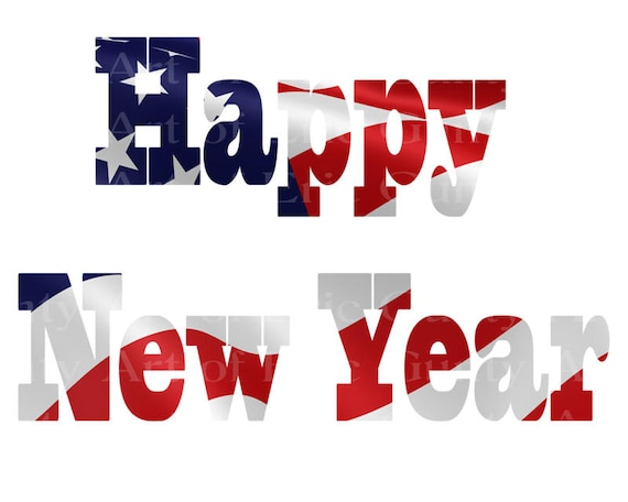 Happy New Year Patriotic Birthday - Edible Cake and Cupcake Topper For Birthday's and Parties! - D22823
