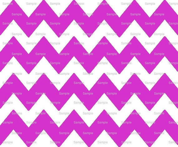 Magenta - Chevron Background Birthday - Edible Cake and Cupcake Topper For Birthday's and Parties! - D6344