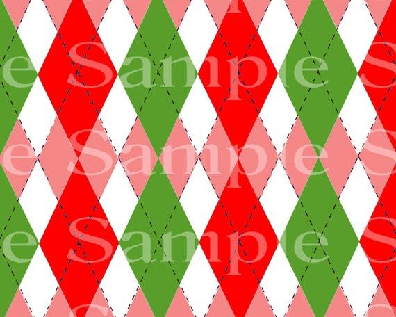 Pink & Green Plaid Birthday ~ Edible 2D Fondant Birthday Cake/Cupcake Topper ~ D24527