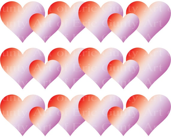 Valentine's Day Hearts - Birthday Background - Side Strips ~ Edible 2D Fondant Birthday Cake Side Toppers ~ D22129