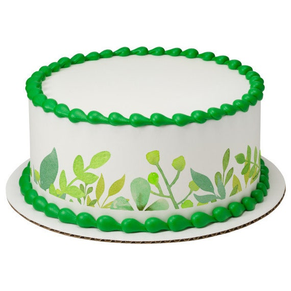 Spring Plants Birthday - Edible Cake Side Toppers- Decorate The Sides of Your Cake! - D24097