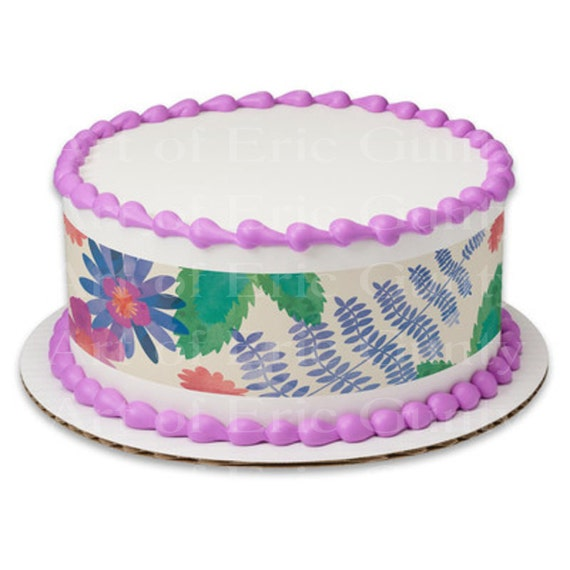 Pastel Easter Flowers - Side Strips - Edible Cake Side Toppers- Decorate The Sides of Your Cake! - D22048