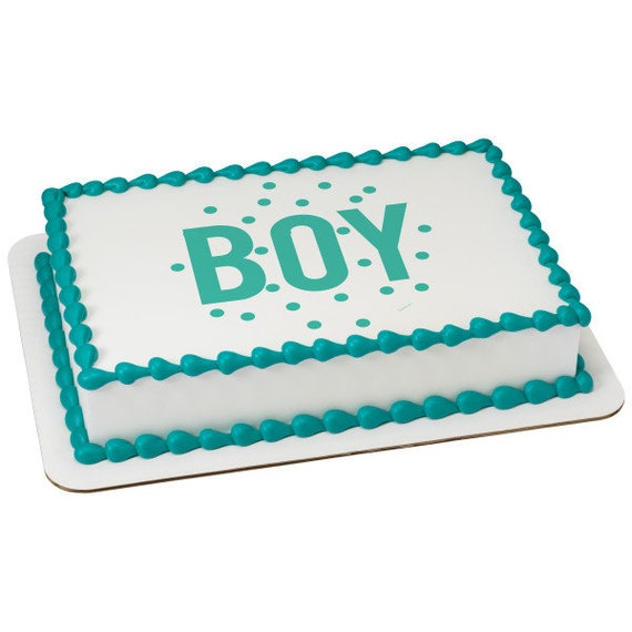 Baby Shower Boy Blue Birthday - Edible Cake and Cupcake Topper For Birthday's and Parties! - D24088