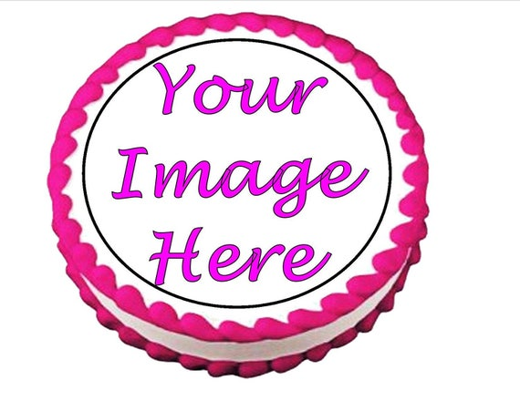 Custom Personalized Birthday Cake Topper - Edible Cake and Cupcake Topper For Birthday's and Parties!