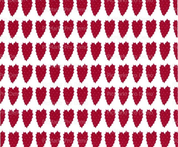 Valentine's Day Hearts Background ~ Edible 2D Fondant Birthday Cake/Cupcake Topper ~ D2951